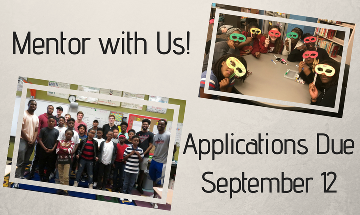 Mentor with Us! Applications Due September 12