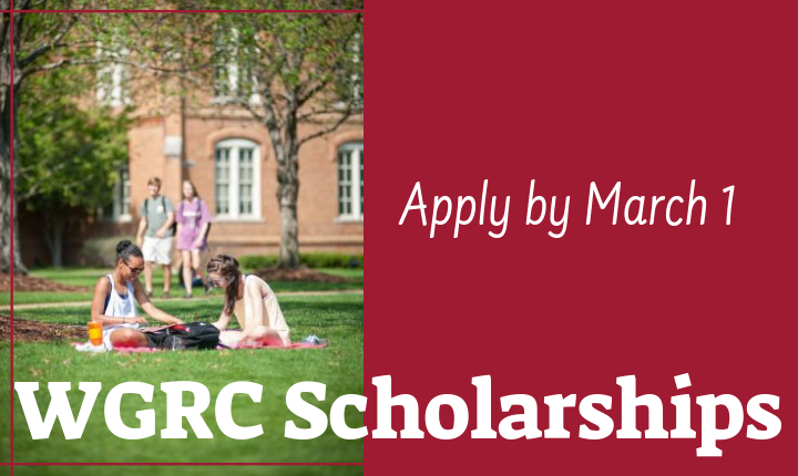 WGRC Scholarship Apply by March 1