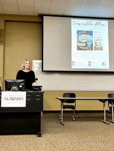 Samantha Allen presenting