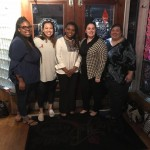 WGRC Staff and Students pose with City Councilor Ravean Howard at dinner prior to her inspirational talk!