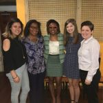 WGRC Staff and Students pose with Georgia State Representative Park Cannon at lunch prior to her inspirational talk!