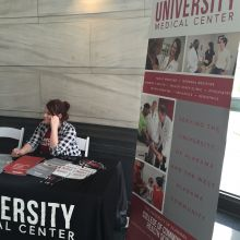 University Medical Center hosts an informational table